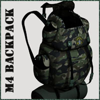 BackPack M4 Clothing Poses/Expressions Accessories 3-d-c