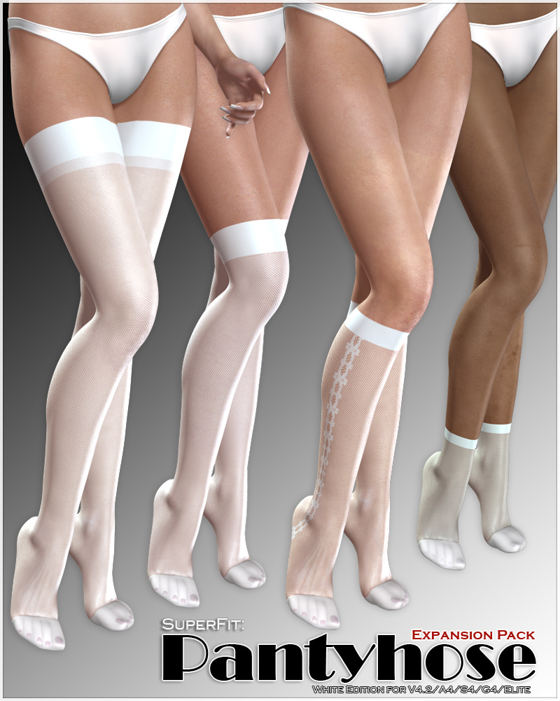 SuperFit: Pantyhose - White - ExpansionPack