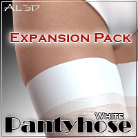 SuperFit: Pantyhose - White - ExpansionPack 3D Figure Assets _Al3d_