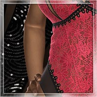 Gentle Touch for Lace Lingerie 3D Figure Assets 3D Models Romantic-3D