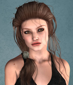 Rosydy Hair for V4 3D Figure Assets SWAM