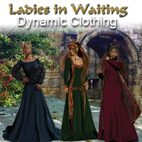 AW Ladies in Waiting 3D Figure Assets awycoff