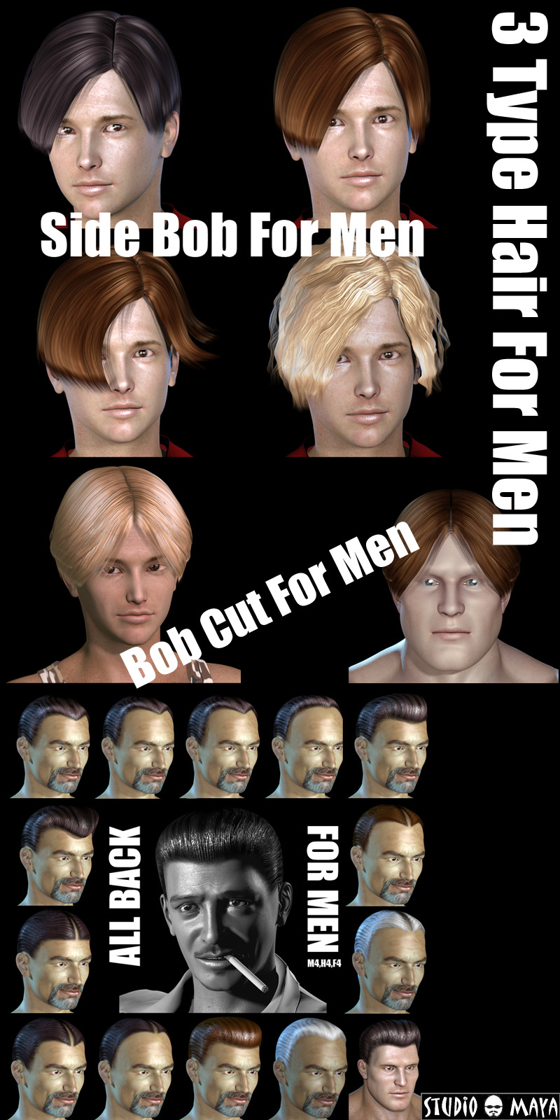 3Type Hair For Men