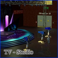 TV Studio 3D Models mausel