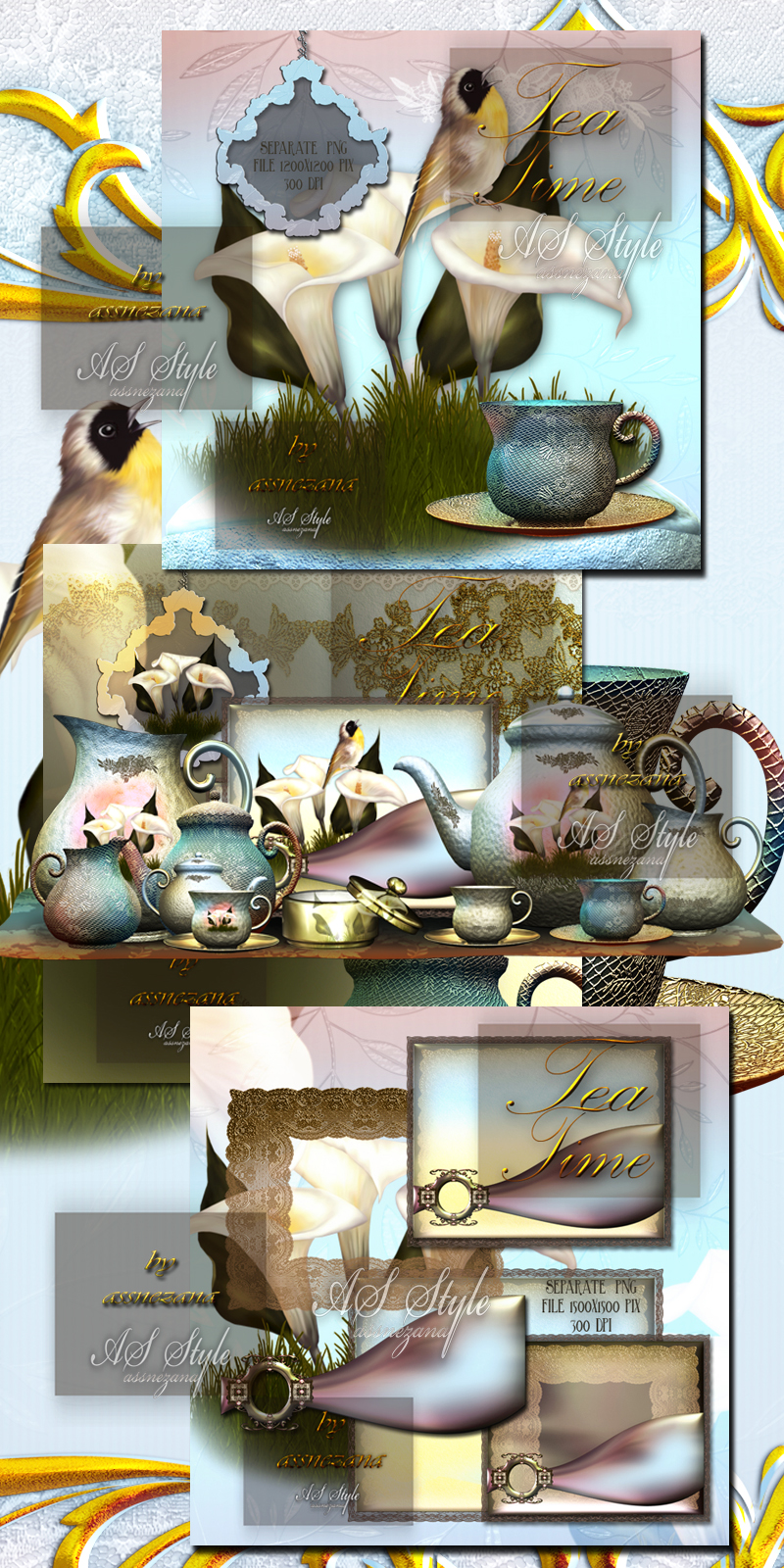 Tea Time design resource
