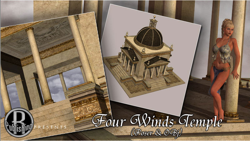 Four Winds Temple (Poser & OBJ)
