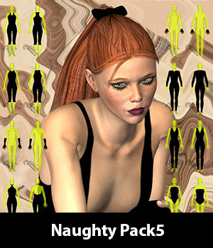 Naughty Pack5 for CLOTHER Hybrid 3D Figure Essentials zew3d