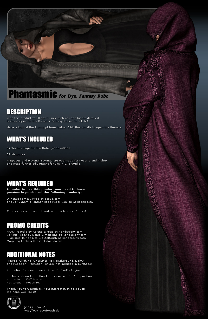 PHANTASMIC: Fantasy Robe for V4/M4
