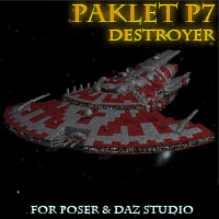 Paklet P7 Destroyer: Poser,OBJ,3DS,MAX image 2