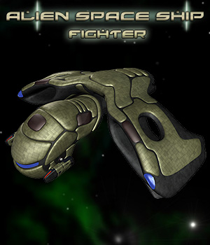 Alien Space Fighter 3D Models Simon-3D