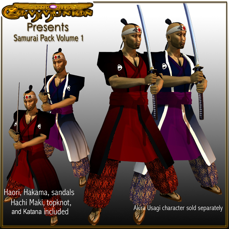 Feudal Samurai Pack for DAZ3D's Michael Volume One