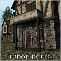 Tudor House (Poser & OBJ) Props/Scenes/Architecture Themed RPublishing