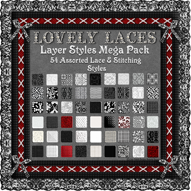 LOVELY LACES- Lace & Stitching Layer Styles Mega Pack