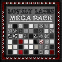 LOVELY LACES- Lace & Stitching Layer Styles Mega Pack 2D 3D Models fractalartist01