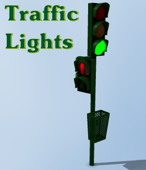 Traffic Lights 3D Models greenpots