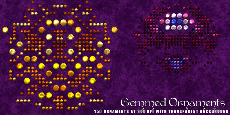 Gemmed Ornaments