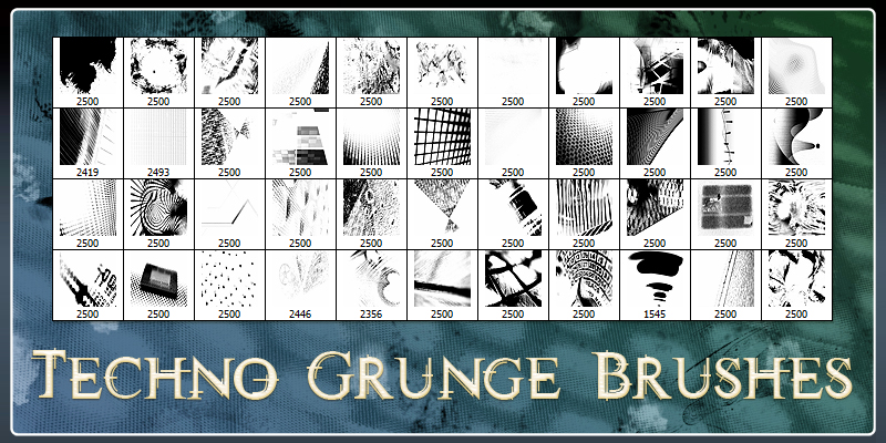 Techno Grunge Brushes