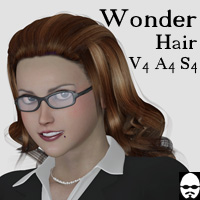 SM_WonderHair 3D Figure Assets MayaX