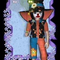 K4 Clown 3D Figure Assets 3DTubeMagic