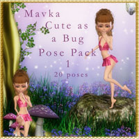 Mavka Cute As A Bug Pose Pack 1 3D Figure Essentials schonee