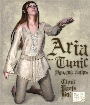 Aria Tunic 3D Figure Essentials 3D Models Tipol