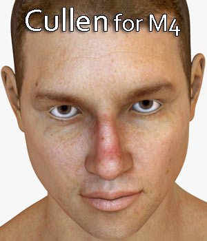 Cullen Character for M4 and Genesis 1 3D Figure Assets RPublishing