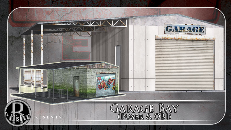 m7 garage bay poser lwo 3ds obj 3d models rpublishing