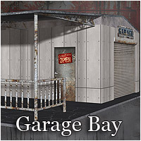 Garage Bay (Poser & OBJ) Themed Props/Scenes/Architecture RPublishing