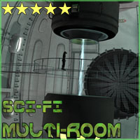 SciFi Multi-Room Props/Scenes/Architecture Poses/Expressions Themed 3-d-c