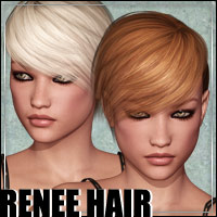 Renee Hair 3D Figure Assets outoftouch