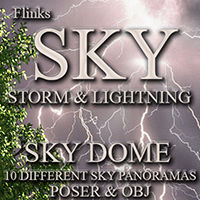 Flinks Sky Storm and Lightning Props/Scenes/Architecture Themed Flink