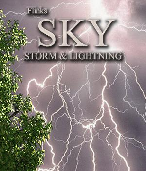 Flinks Sky Storm and Lightning 3D Models Flink