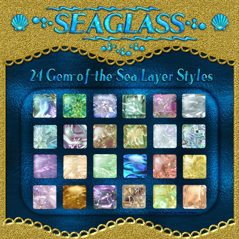 SEAGLASS Layer Styles with Free Gift