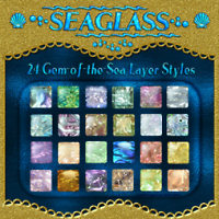 SEAGLASS Layer Styles with Free Gift 2D 3D Models fractalartist01