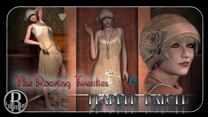 Flapper Dancer Dress V4, A4, G4