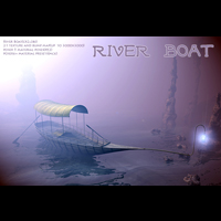 River Boat 3D Models 1971s