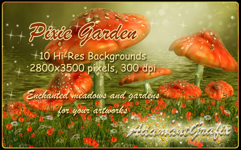 Pixie Garden Backgrounds