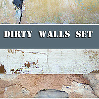 Dirty Walls Set 2D Graphics 1971s