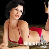 Glamour Poses For V4 and A4 3D Figure Assets JerryJang