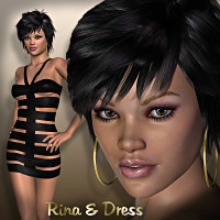 Rina and Rina Dress 3D Figure Essentials LMDesign