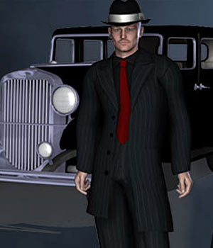 Zoot Suit for M4 3D Figure Assets RPublishing