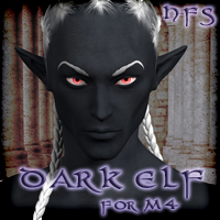 HFS Elven Races- Dark Elf for M4 Software Themed Characters DarioFish