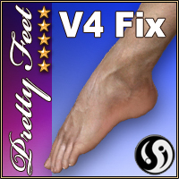 V4 Pretty Feet Fix 3D Figure Assets CJ-studio