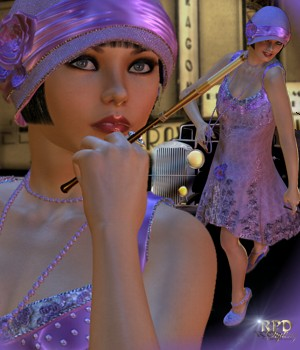 Paragon Club Flapper Dancer 3D Figure Assets 3D Models -renapd-