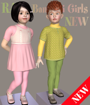 RA ElegantSpring for Kids4 3D Figure Assets RAGraphicDesign