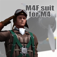 M4F suit for M4 3D Figure Assets kobamax