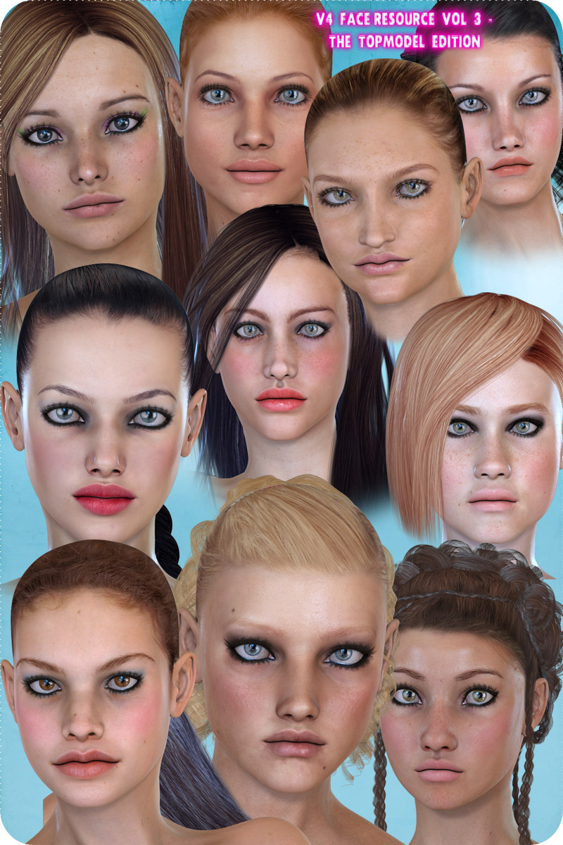 V4 Face Resource Vol III - The Topmodel Edition