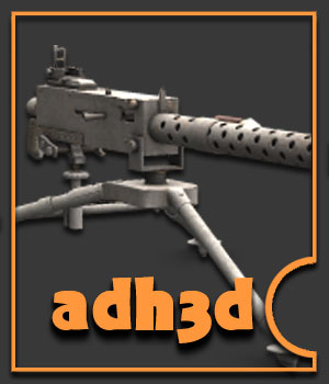 M1919 machine gun 3D Models Gaming Extended Licenses adh3d
