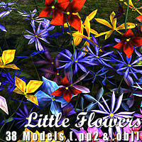 Little Flowers 3D Models designfera