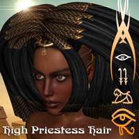 High Priestess Hair Themed Hair Darkworld